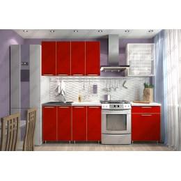 Кухня Радуга 1,8 м Красная