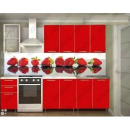 Кухня Радуга красная 2,0 м