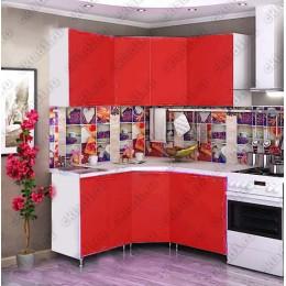 Кухня 1,45м х 1,45м (Красная)